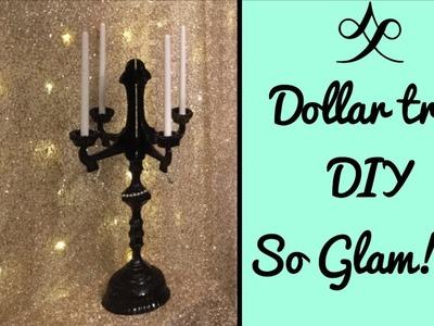 Dollar tree  DIY. Candelabra so glam!