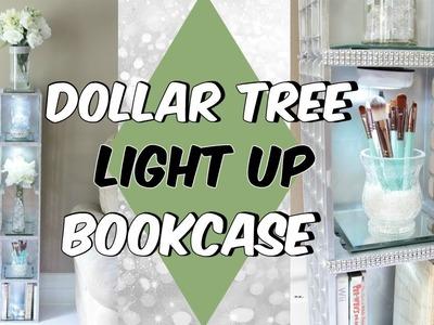 DOLLAR TREE LIGHT UP BOOKCASE D.I.Y TUTORIAL