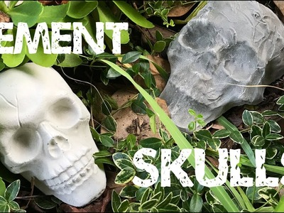 Easy DIY Cement Skulls Tutorial - here's your weekend Halloween project
