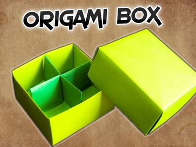 Easy Handmade Origami Box Tutorial || How To Make a DIY Paper Box with One Sheet of Paper|| RxFact