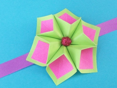 Easy Paper Flower for Rakhi Bracelet, Greeting Card, Room Decor| DIY Origami Crafts Ideas for Kids