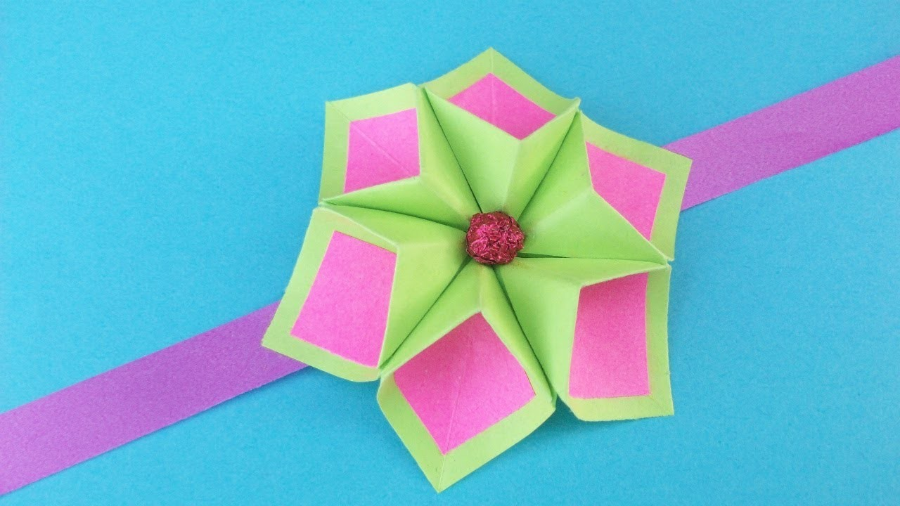 Easy Paper Flower For Rakhi Bracelet Greeting Card Room Decor Diy
