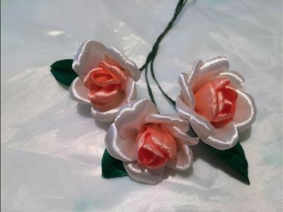 Flower making tutorial  D.I.Y. Satin Rose