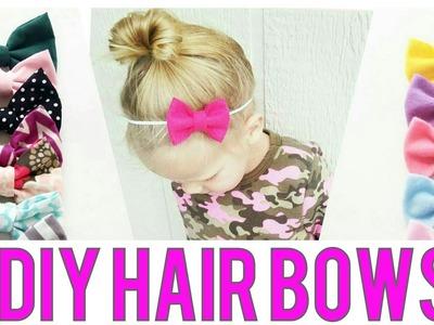 HAIRBOW TUTORIAL   Felt Hair Bow   Cotton Hair bow   PART 2