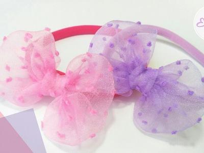 Headband Ideas for Baby With Organza Fabric & Nylon Band   DIY by Elysia Handmade