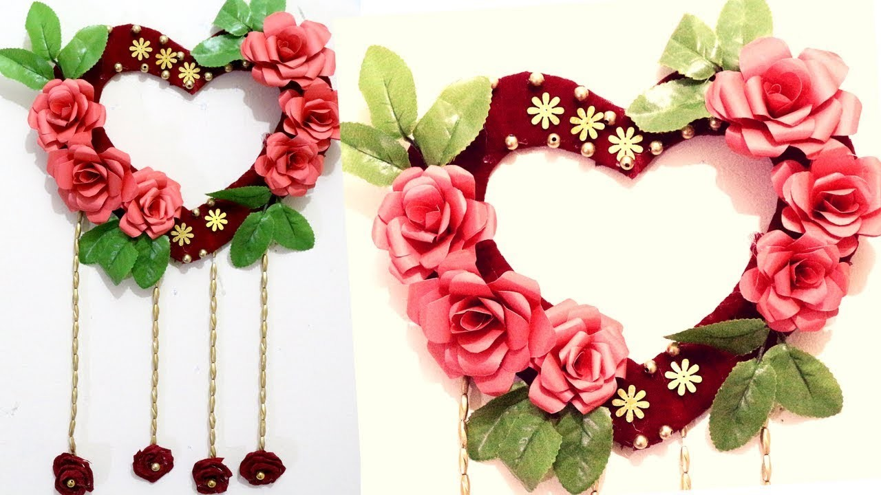 Heart Wall Hanging Craft Ideas Heart Decorations For Home Crafts