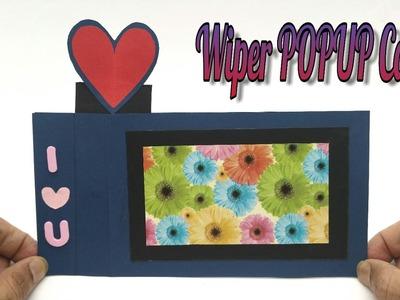 Heart Wiper Popup Card - DIY | Scrapbook | Handmade | Tutorial - 753