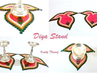 Home Decor Ideas | DIY | Making of Diya Stand Tutorial | Festival Decor | www.knottythreadz.com