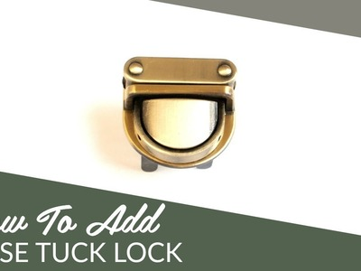 How to Add a Tuck Lock: DIY Tutorial by Sallie Tomato