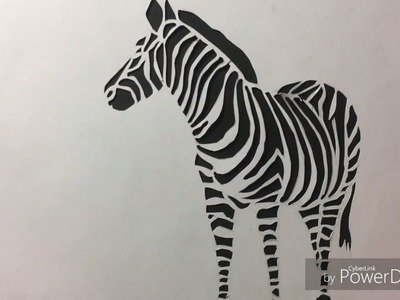 How to- cut paper - paper craft- stencil art | Paper cutting art zebra