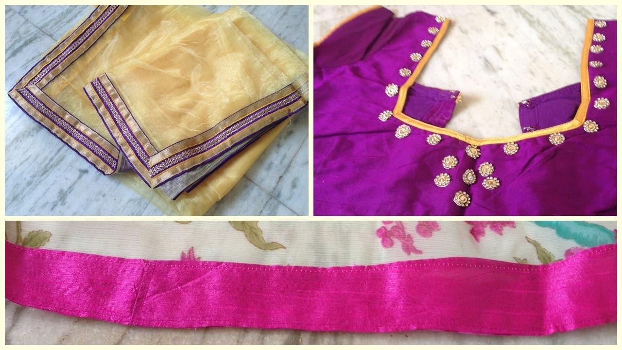 How to design your own saree | diy  designer saree | diy clothing | saree designing | blouse design