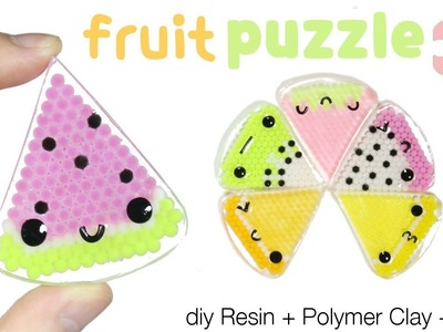 How to DIY Kawaii.Cute Fruit Slice Puzzle Resin Tutorial