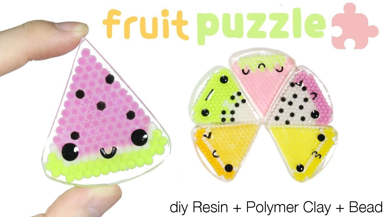 How to DIY Kawaii.Cute Fruit Slice Puzzle Resin Tutorial