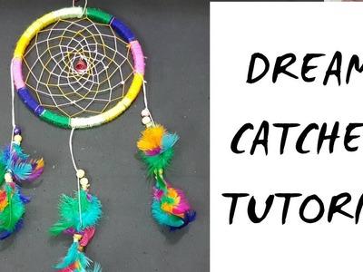 How to make a Dream Catcher.DIY Dream catcher.Dream Catcher Tutorial
