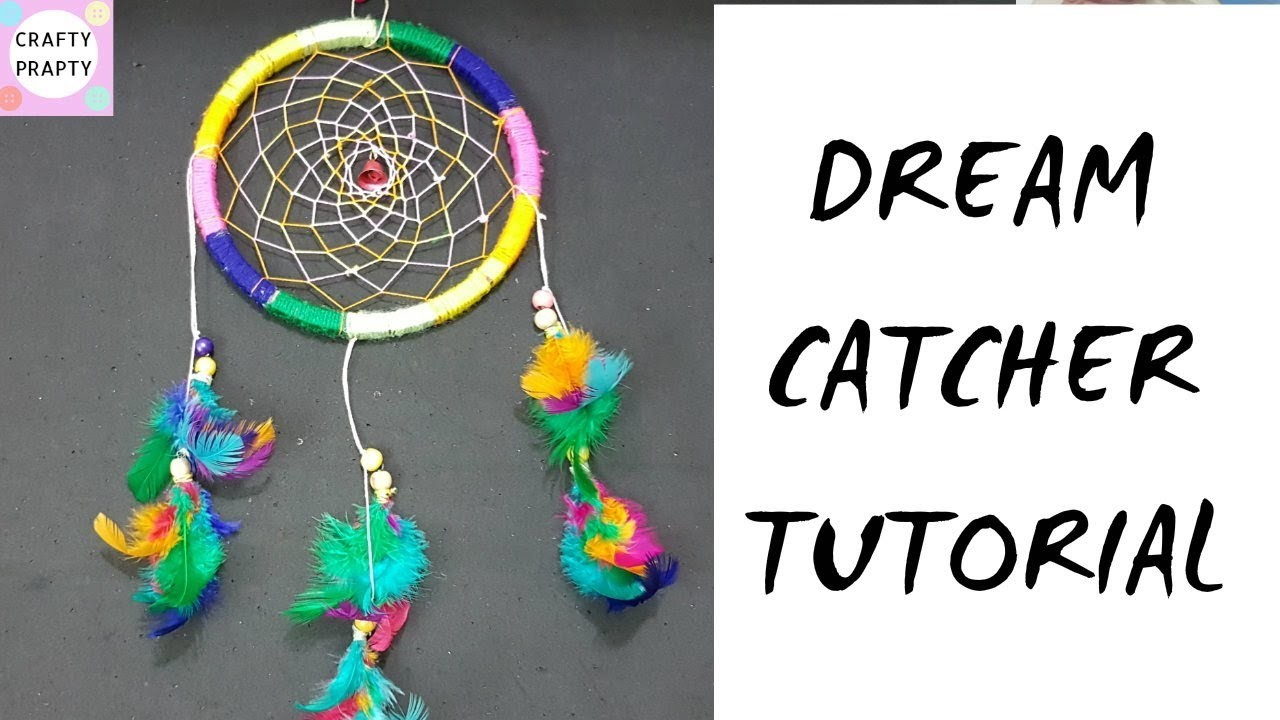 How to make a Dream Catcher.DIY Dream catcher.Dream Catcher Tutorial