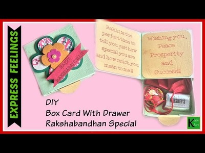 How to make Box card with drawer tutorial-DIY crafts-Gift box ideas-Rakshabandhan special 2017