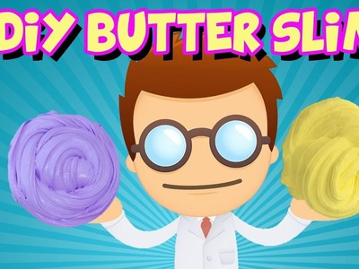How To Make Butter Slime With Clay ~ DIY Butter Slime With Glue, Model Magic Clay And No Borax
