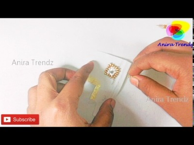 How to make designer earrings at home | DIY Tutorial | Canvas Patch Jewel Making