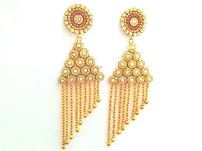 How To Make Designer Earrings   Paper Earrings   Jewellery Making   DIY +earring(earring)  diaries