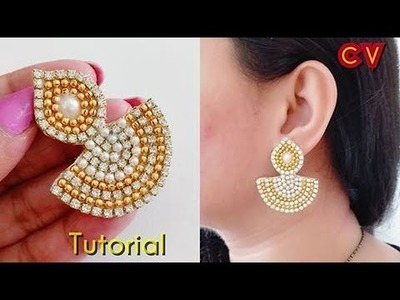 How to make Designer Earrings. Paper earrings. DIY