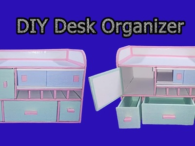 How to make Desk Organizer. Drawer Organizer From Cardboard - DIY Tutorial