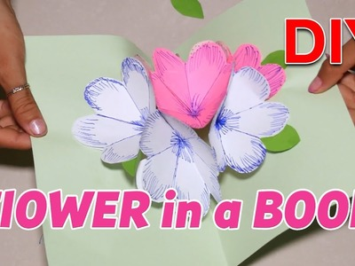 How to make DIY, Flower in a book, Spiral flower - Tutorial