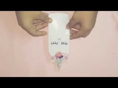 How to make DIY phone case 5 minutes craft to do when bored |DIY| phone case unicorn case
