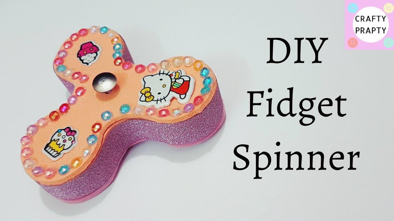 How to make Fidget Spinner.DIY Fidget Spinner Tutorial.Fidget Spinner with out bearings