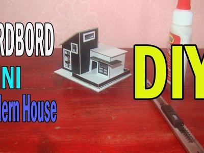 How to make Mini Cardboard Modern House   DIY Mini Cardboard House Tutorial  Step by Step
