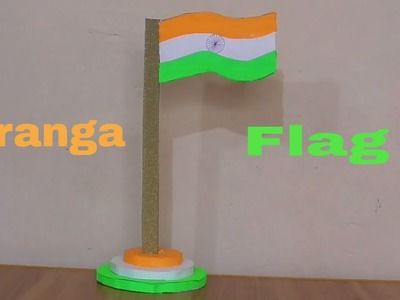 How To Make National Flag || Handmade Tiranga || Tiranga Craft by Hand