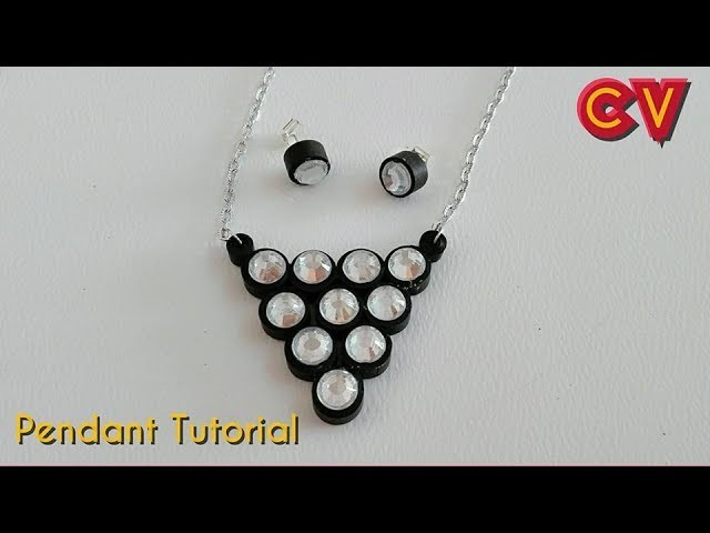 How to Make Quilling Paper Pendant. Paper Jewellery Making. Quilling Pendant. DIY