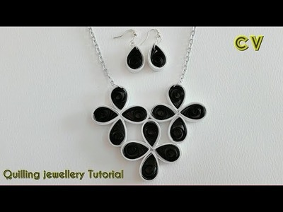 How to Make Quilling Paper Pendant. Paper Jewellery Making. Quilling Pendant. DIY 4