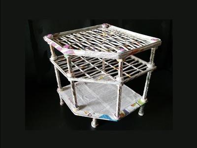 How To Make Rack From Newspaper. DIY Rack from cardboard. DIY Newspaer rack.  Best out of waste