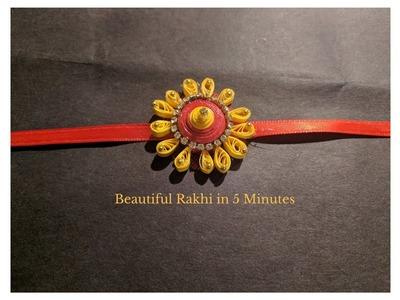How to make Rakhi  | Easy Diy Rakhi Tutorial |  DIY Rakhi in 5 Minutes