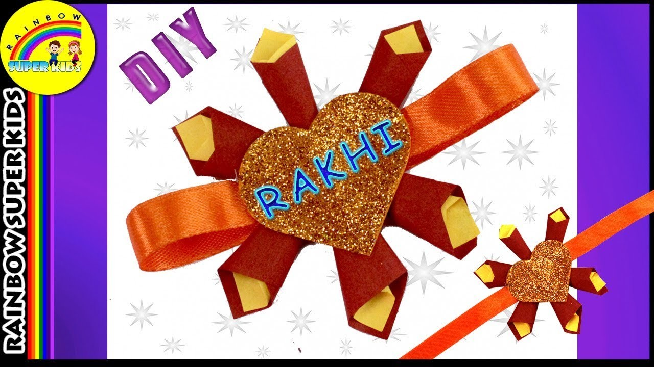 How to make Rakhi with Paper | Rakhi making Ideas | Paper Craft | DIY Rakhi