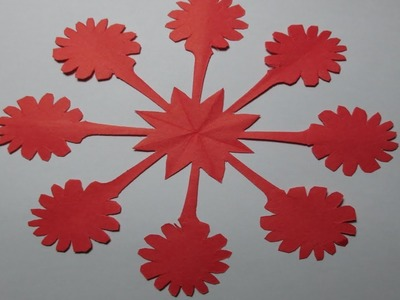 How To Make Simple Easy Paper Cutting Flower