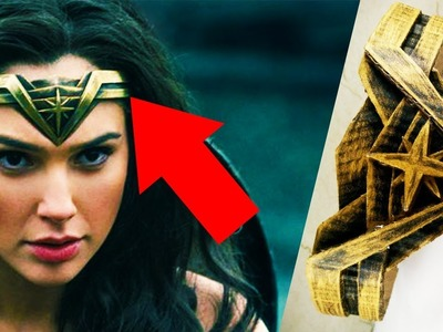 How to make WONDER WOMAN'S TIARA out of CARDBOARD JUSTICE LEAGUE diy at home easy for kids
