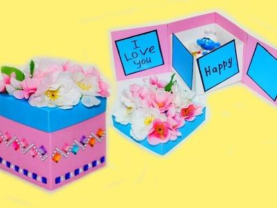 Idea gift box   Gift box tutorial + Greeting card ideas   DIY paper crafts idea   Julia DIY