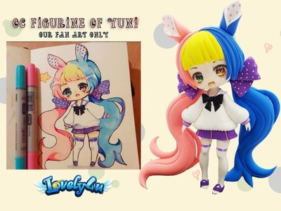 Lovely4u | VO5 | 8 Min double colored hair girl | DIY| Clay Tutorial | Yuniiho oc fan art