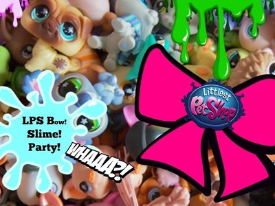 LPS Party time! DIY Littlest Pet Shop hairbow. fixing floam slime