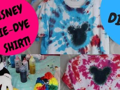 Mickey Mouse Tie Dye Shirt Tutorial DIY Disney Vacation Fun!