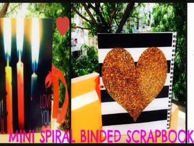 Mini Spiral Scrapbook.Scrapbook Tutorial.DIY Crafts.Birthday Surprise.Handmade Birthday Gift Ideas