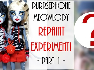 Monster High Doll Repaint. How To Customize BJD Easy Barbie DIY Tutorial. Starring Kim Kardashian