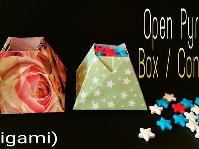 Open Pyramid Box - DIY | Handmade Origami Tutorial by Paper Folds - 750