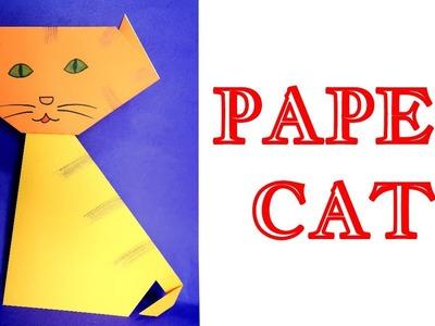 PAPER CAT | origami animals | origami art | origami cat | origami craft | origami for kids | origami