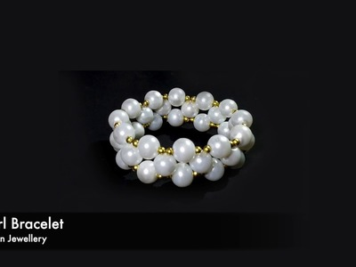 Pearl Bracelet Making Tutorial Quick And Easy DIY Fashion  Jewellery