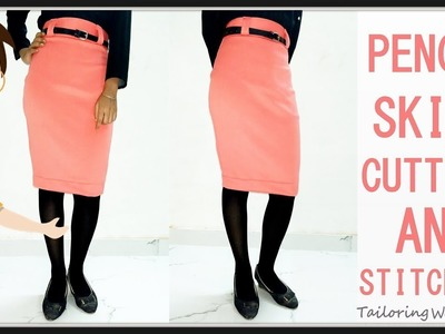 Pencil Skirt Tutorial | Pencil Skirt Cutting And Stitching DIY - Tailoring With Usha