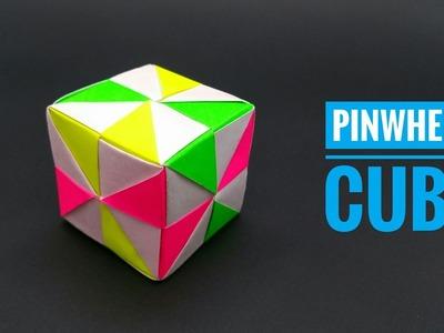 Pinwheel Cube - DIY   Modular Origami   Tutorial   Paper - 759