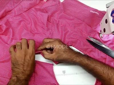 Pleated nighty easy cutting DIY tutorial മലയാളം, pleated nighty cutting and stitching Part 2