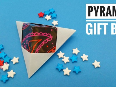 Pyramid   Triangle Gift Box - DIY Origami Tutorial by Paper Folds - 739